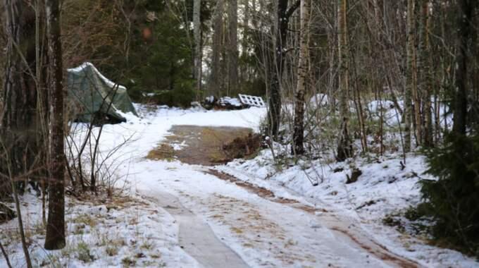 Här stod lastbilen. Foto: Janne Åkesson/Swepix