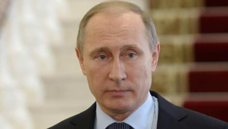Vladimir Putin säger att Ryssland har bombat IS och Nusra-fronten Foto: Alexei Nikolsky