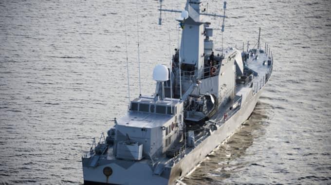 I oktober 2014 jagade Försvarsmakten en misstänkt ubåt i Stockholms skärgård. Nu rapporterar DN att en kränkning ska ha skett våren 2015 – men hållits hemlig. Foto: Mikael Sjöberg