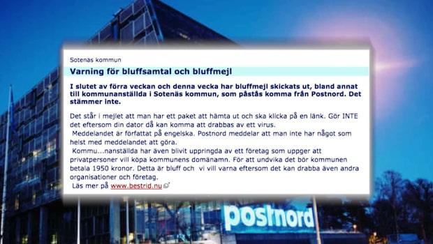Nytt bluffmejl i Postnords namn - paketleverans är virus