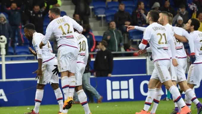 Lyon firar. Foto: Imago Sportfotodienst