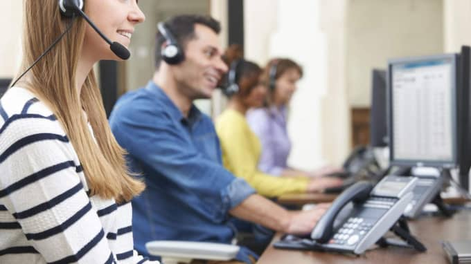 Telefonförsäljare. Foto: Shutterstock.