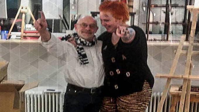 Paret träffades i Sten Johanssons konstgalleri. Foto: Privat