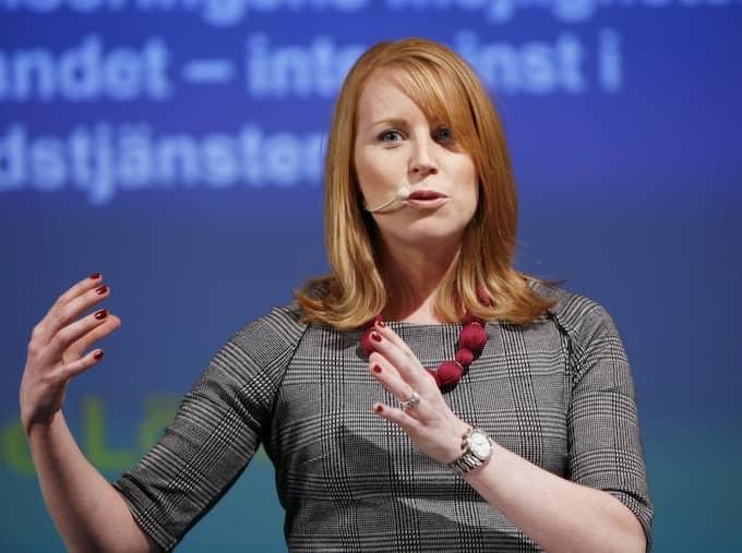 Det går bra nu för Centerpartiet och Annie Lööf. Foto: Patrik C Österberg