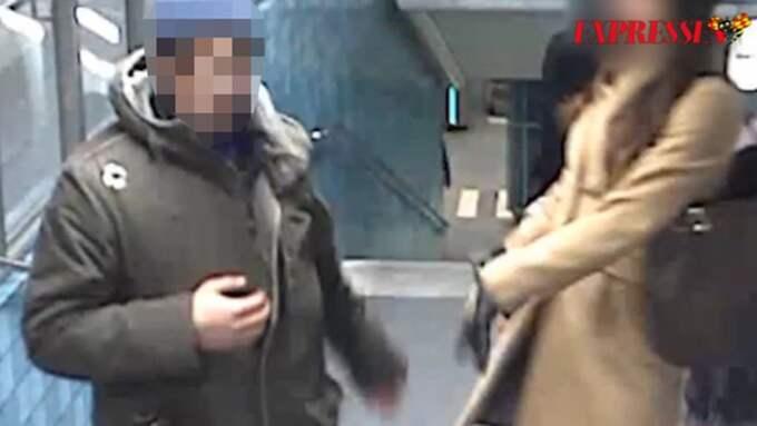 Mannen gav sig på småbarnsmamman på Gamla stans tunnelbanestation 21 januari. På måndagen möttes de två i rätten. Foto: Polisen