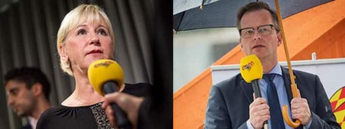 Margot Wallström (S), Socialminister 1996–1998 och Mikael Damberg (S), gruppledare i riksdagen, svara på jämställdhetsminister Maria Arnholms (FP) debattinlägg i söndagens Expressen.