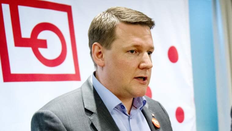 """""""När jag lyssnar på LO-medlemmar då känner man en osäkerhet"""", säger LO:s vice ordförande Tobias Baudin. Foto: Jens L'Estrade"""