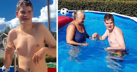 Danne har fått ny pool – äntligen kan han bada igen: