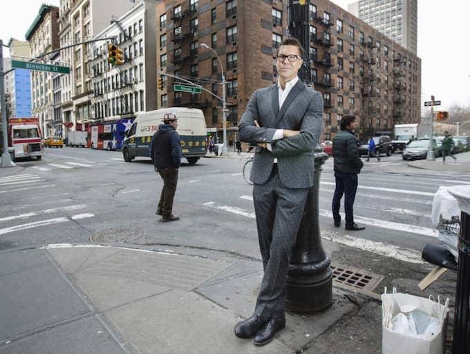 Het i storstads-pulsen. Fredrik Eklund är stjärnmäklaren som flera kändisar väljer att anlita. Foto: Linda Forsell