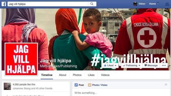 Expressens kampanj #jagvillhjälpa på Facebook.