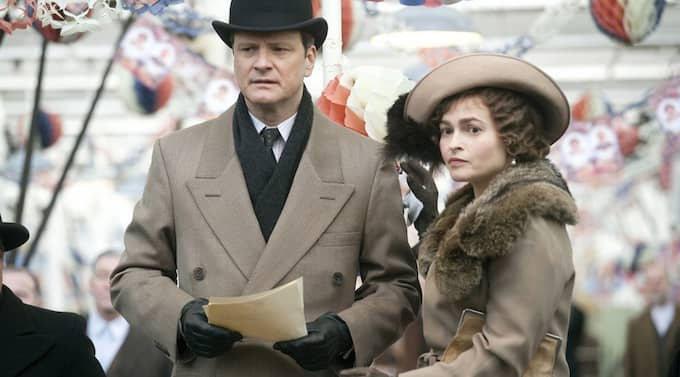 "Colin Firth och Helena Bonham Carter i filmen ""King´s speech"". Foto: Weinstein Company/Splash News"