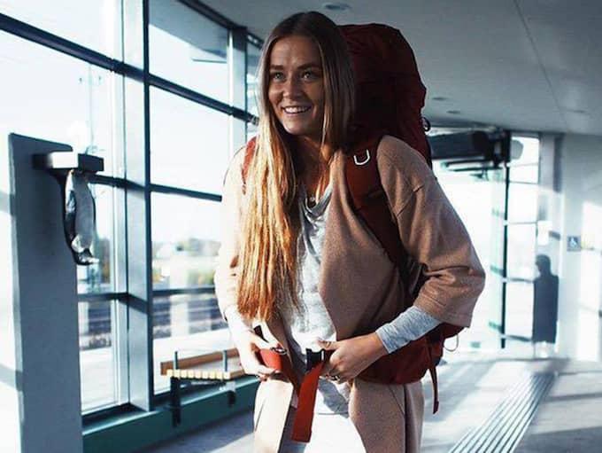 """""""Jag tycker om att resa, och att fotografera är mitt liv"""" säger hon. Foto: Privat"""