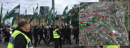 NMR överklagar kortad demonstrationsväg