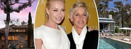 Kändisparet Ellen och Portia säljer sin lyxvilla