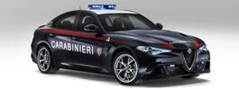Årets ballaste polisbil byggd av Alfa Romeo