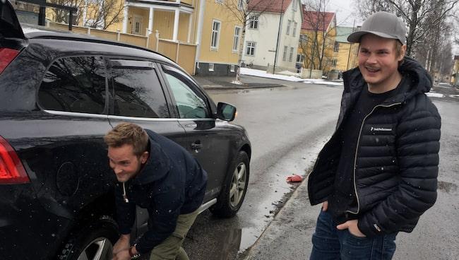 Bröderna Alexander och Jonathan Grandlund.