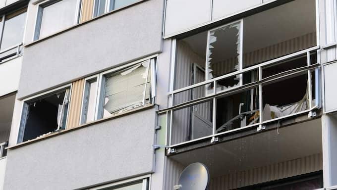 Explosionen inträffade i bostadsområdet Brandkärr i Nyköping. Foto: David Hårseth/Blåljus.se
