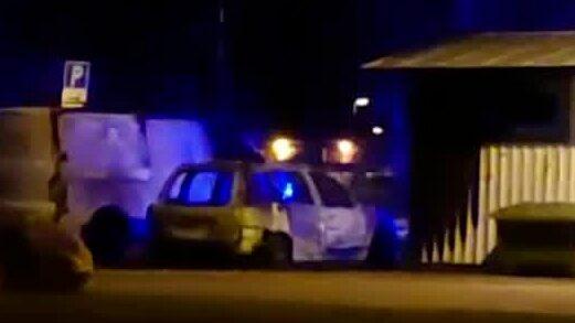 14 bilar i brand i Gävle i natt