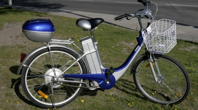 Försäljningen av elcyklar skjuter i höjden. Den här modellen har några år på nacken. Foto: Martina Huber