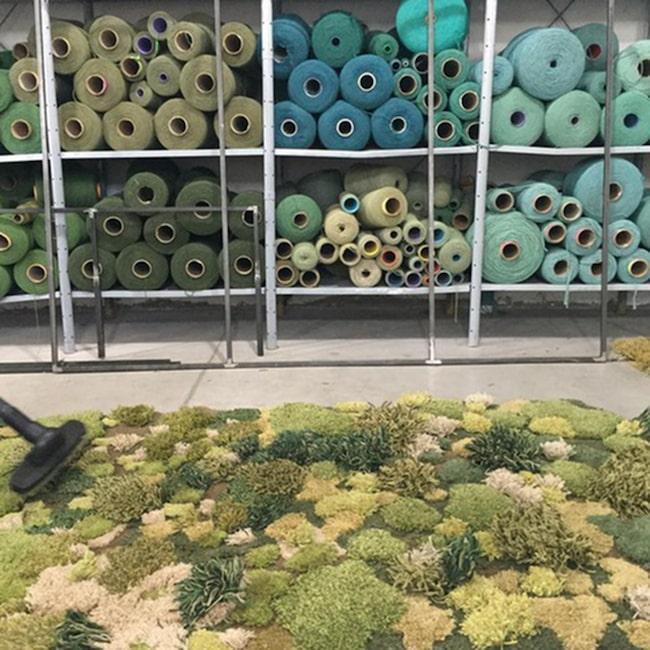 Men det är faktiskt en argentinsk mattdesigner vid namn Alexandra Kehayoglous som återskapat naturens skönhet i sina ryamattor att ha inomhus.