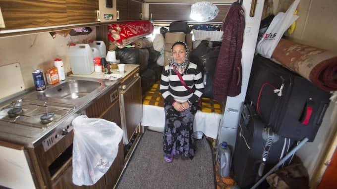 Viki Muresan hade hellre suttit hemma med sin familj än bott i en husvagn. Foto: Drago Prvulovic/Malmobild Ab