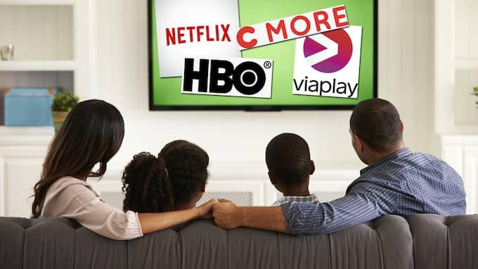 HBO, Netflix, Cmore och Viaplay är de största strömningstjänsterna på den svenska marknaden.