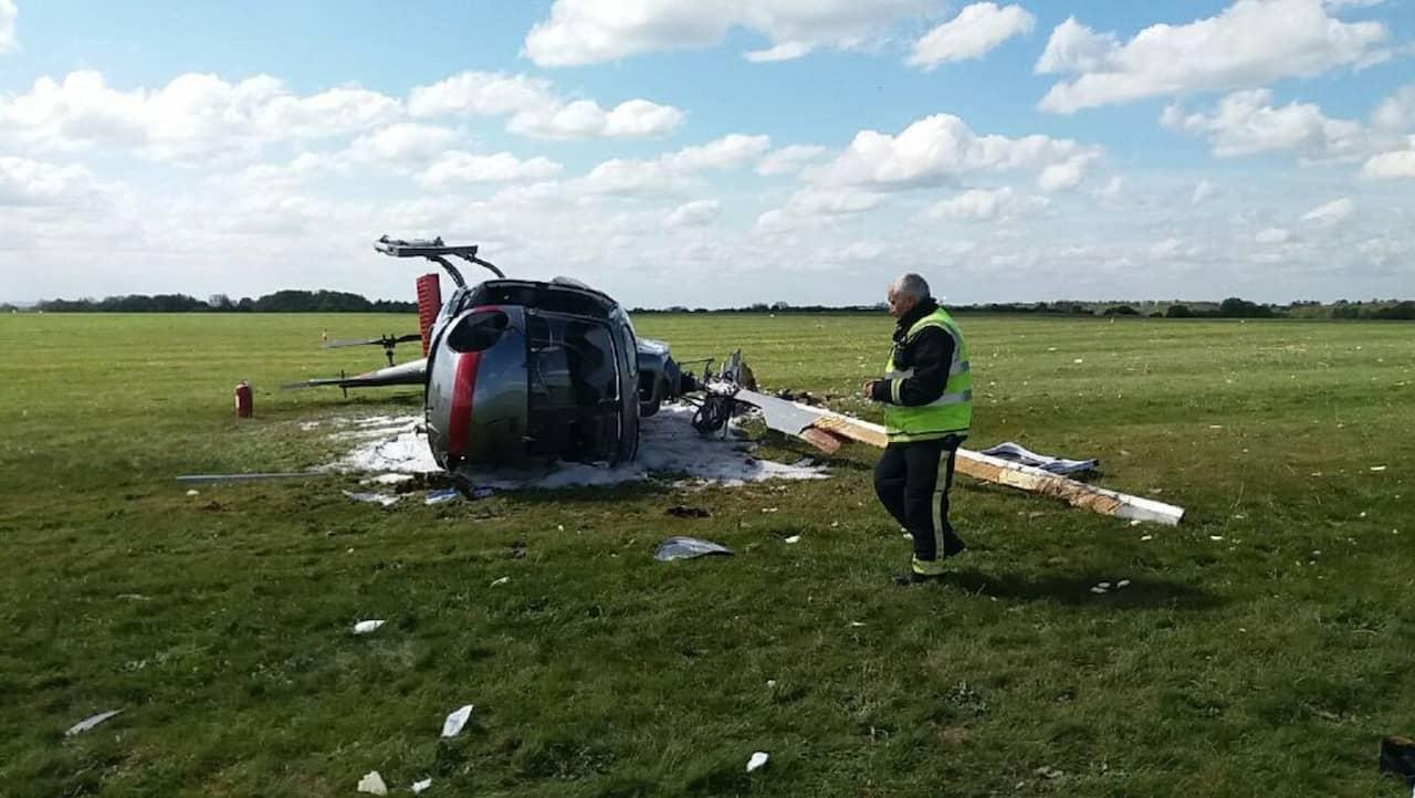 Tva skadade i helikopterkrasch