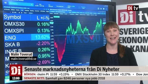 Nyheter 12.00: Gruvbolagen går starkt