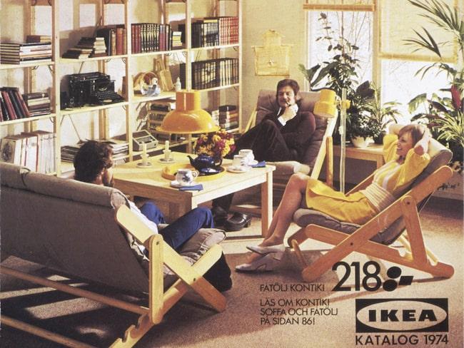Bosse hylla, som Ivar hette förr, på katalogomslaget 1974.