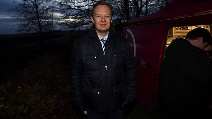 TV4-reportern Jens B Nordström. Foto: SVEN LINDWALL