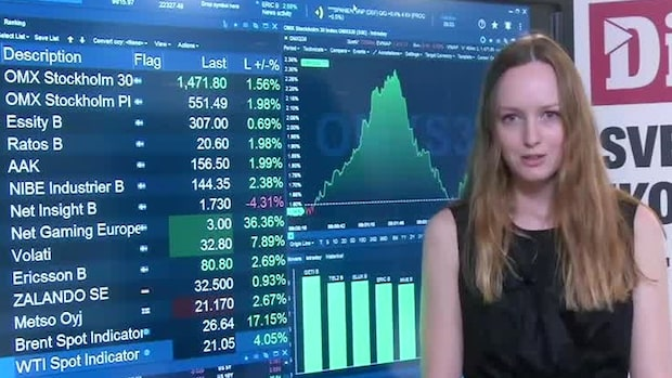 Börsöppning: OMXS30 upp - Brenten rusar