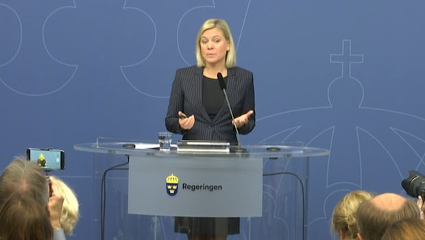 """Magdalena Andersson presenterade budgeten: """"Tid av stora utmaningar"""""""