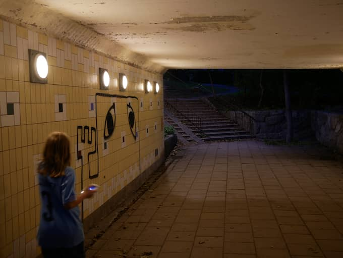 Gångtunnel i Stockholm. Foto: DAN HALLEMAR