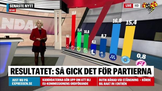 Resultatet: Så gick det för partierna i EU-valet