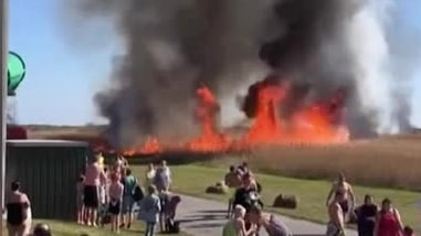 Lalandia utrymt efter kraftig brand