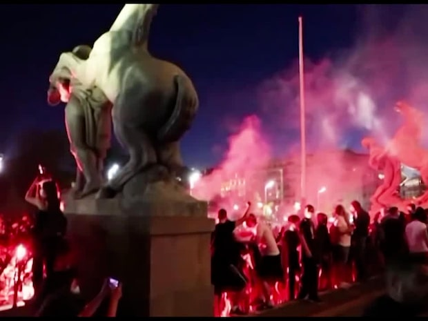 Fortsatta protester i Belgrad