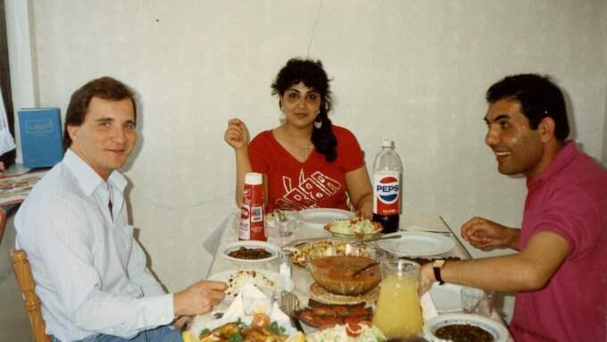 Statsministern var under slutet 1980-talet kontaktperson för Parviz Dobareh, som hade flytt till Sverige från Iran. Foto: Privat