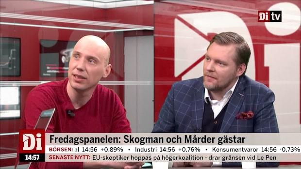 Fredagspanelen: Skogman och Mårder gästar Ekonomistudion