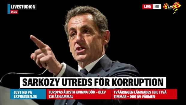 Nicolas Sarkozy utreds för korruption