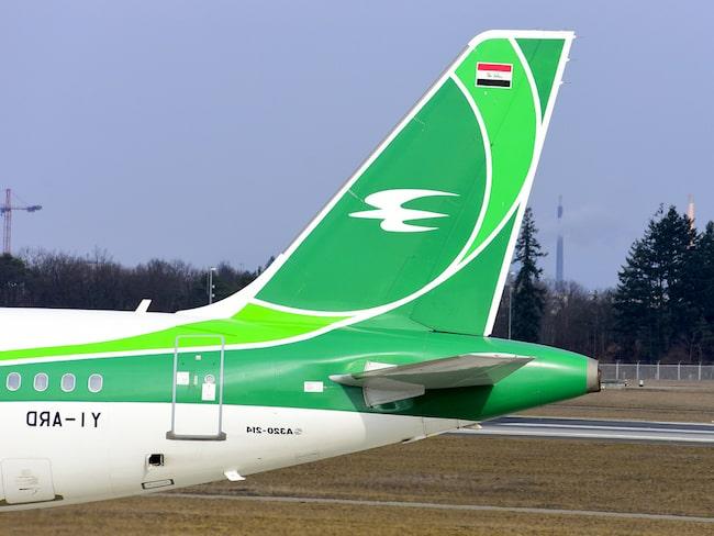 Flygbolaget Iraqi Airways, från Irak, är svartlistade av EU sedan en tid tillbaka.