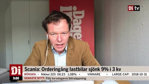 """Scanias orderingång sjönk: """"Inte i nivå med Volvo"""""""
