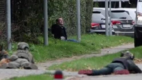 Här siktar polisens krypskyttar på Peter Madsen