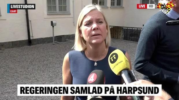 Regeringen samlade på Harpsund