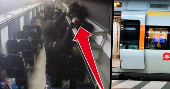 Tjuven slår till på tåget – och det går blixtsnabbt