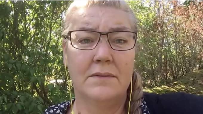 Jessica, dotter till kvinnan som började brinna i Skara, vädjar nu om tips som kan lösa brottet. Foto: BROTTSCENTRALEN