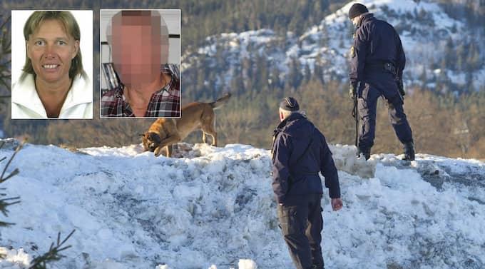 Polisen söker ledtrådar efter mordet på Eva. Foto: Richard Ström/Expressen