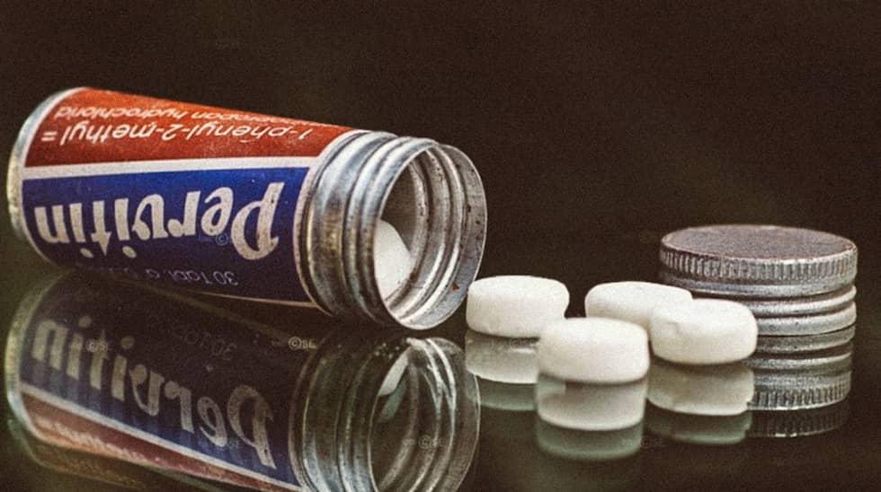 Pervitin-piller. Tyskarna tog med sig 35 miljoner stycken till Frankrike.