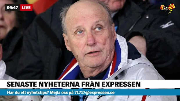 Norges kung Harald inlagd på sjukhus