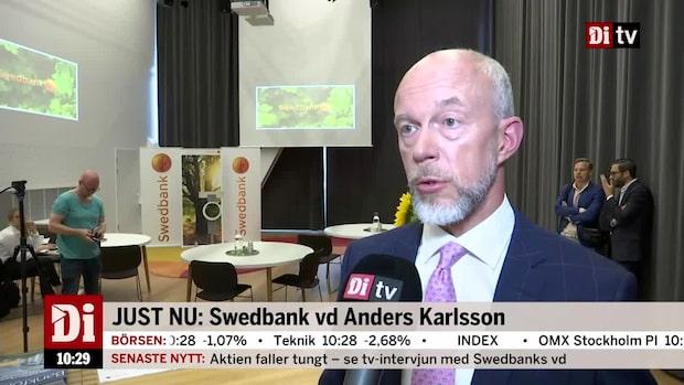 """Swedbanks vd om resultatet: """"Vi har sett en fortsatt hög kundaktivitet"""""""