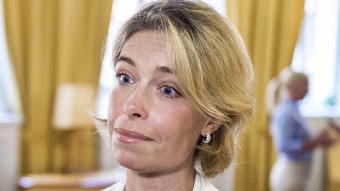 """""""Det vi ser nu är att fler barnfamiljer flyttar till Sverige"""", säger socialförsäkringsminister Annika Strandhäll, S, Foto: Marcus Ericsson/T!"""